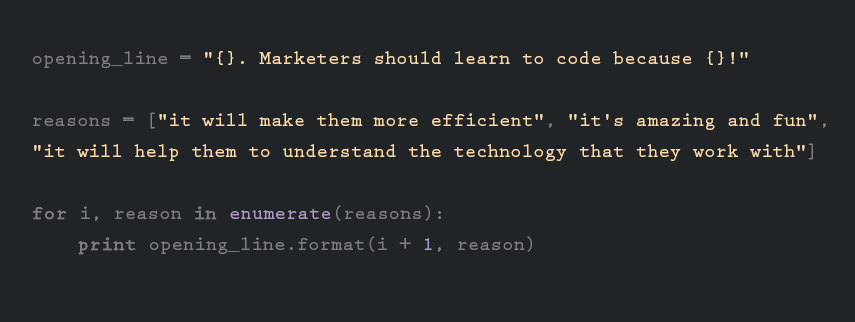 should marketers code